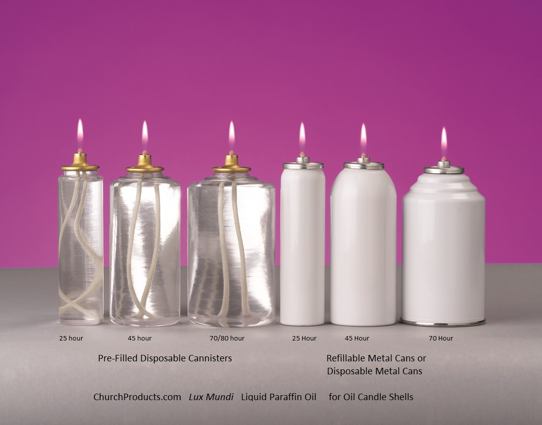Oil candles and liquid paraffin church candles for Oil filled candlesticks